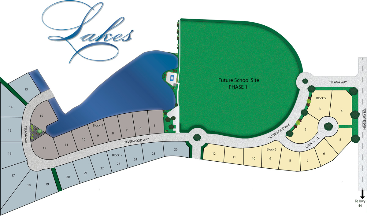 The Lakes in Middleton Idaho- Plat Map