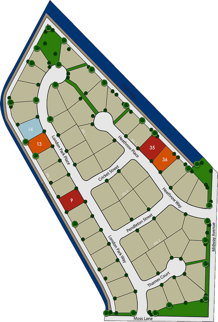 London Park Subdivision Plat Map