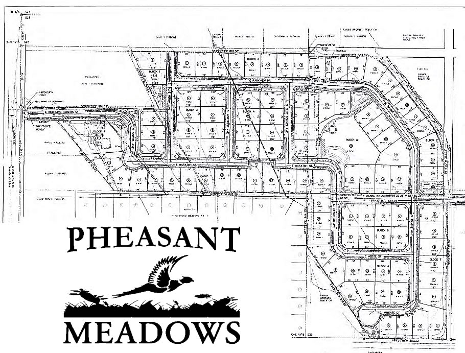 Pheasant Meadows Subdivision Plat Map