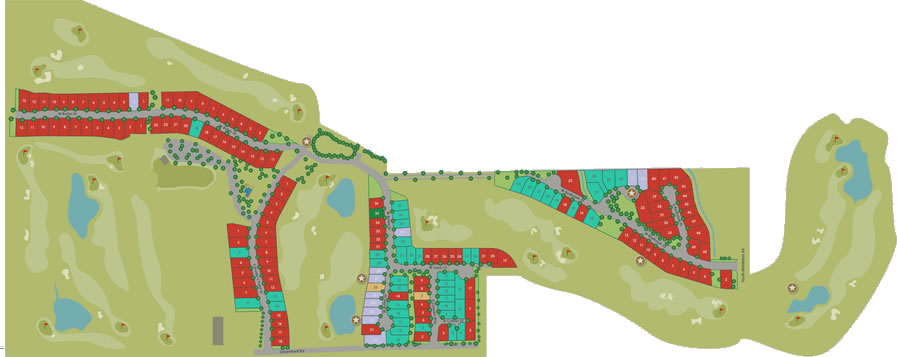 Red hawk Subdivision Plat Map