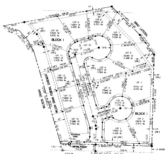Whisperwood Subdivision Plat Map