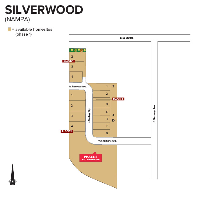 Silverwood Subdivision Plat Map