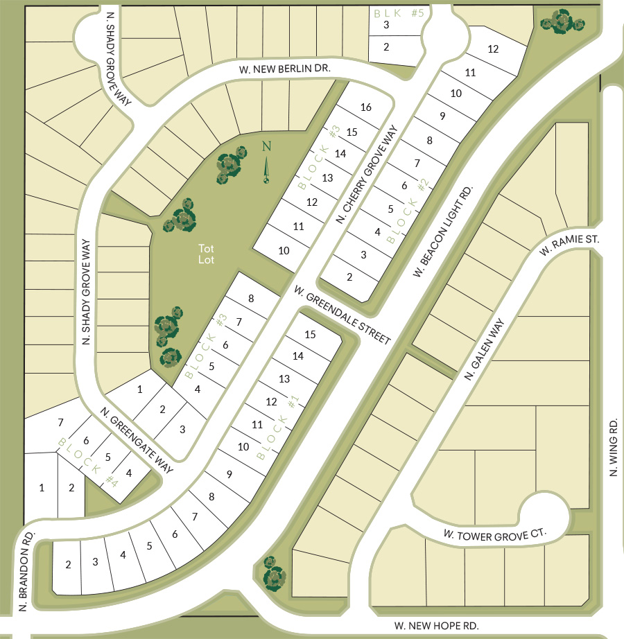 Greendale Grove Subdivision Plat Map