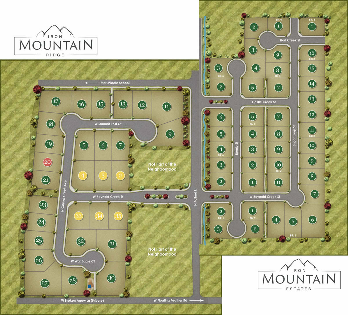 Iron Moutain Subdivision Plat Map